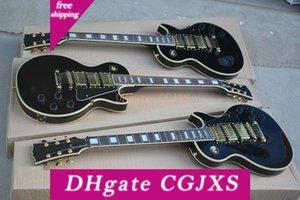 Özel Fiyat Gülağacı Siyah Vücut Elektro Gitar ile Altın Madeni 3 Transfer, Beden, Özel Olabilir Binding