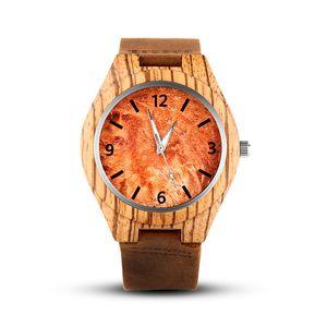 Wooden Watch Men erkek kol saati Luxury Stylish Wood Timepieces Chronograph Quartz Watches in Wood Gift Box