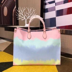 2020 Yeni Tasarımcı Çanta Satış Yaz onthego escale Batik Lüks Bez İçin Kadınlar Çanta Cüzdanlar Tasarımcı Pastel Bez Escale Koleksiyonu için