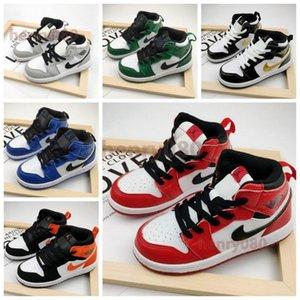 Nike air jordan retro 1 в UNC High О.Г. 1S обуви Молодежь Дети баскетбольного университет Синего новорожденные новорожденные малыши Мальчики Девочка кроссовки