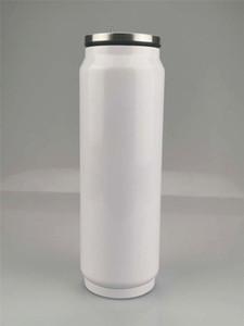 17oz Сублимация Cola может DIY 500мл бутылки воды Термос двойными стенками из нержавеющей стали Cola Форма массажеры Изолированный Вакуумная с крышкой c01