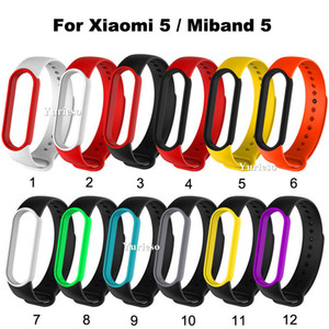 For Xiaomi Mi Band 5 NFC Bracelet global version Strap Wristband Replacement Accessory Colorful Strap for MiBand 5 Silicone wholesale Cheap