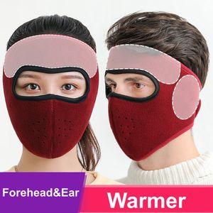 2020 New Cover Designer Máscara Facial Flanela Inverno exterior Desporto Quente motociclista Cyling Motor Driver Ski Mask reutilizável lavável