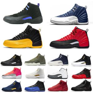 NIKE AIR JORDAN RETRO 12 2019 Gym Red 12 XII 12s zapatos de baloncesto para hombre Paquete de graduación Vuelo internacional Michigan TAXI Flu juego hombres Zapatillas deportivas atléticas