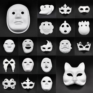 DIY Paper Masks Masquerade Halloween Masks Party Cosplay Cartoon Maske Carnival Ball Face Women Carnaval Masque Prop BWF654