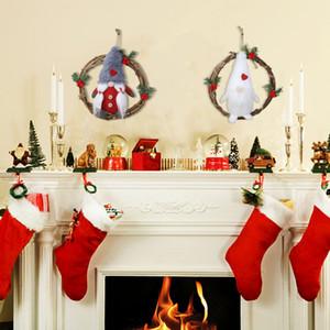 Christmas Wreath Delightful Door Wreath Gnome Rattan Christmas Garland