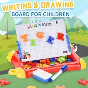 Alfabeto Escritura Magnético Dibujo Niños Tablero Tablero Juguetes Número Niño Conjunto Tablero Regalo Pintura Niños Colorido Creativo Educativo ILVD
