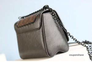 Hot Deluxe Women Hand-held Mini One-Shoulder Silver Hardware green Leather Fashion high-end twist denim Bag m50338 44837 50282 50271