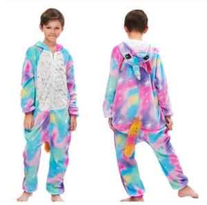 2020 Onesie Kids Unicorn Pajamas For Children Animal Cartoon Blanket Sleepers Baby Costume Winter Boy Girl Licorne Jumspuit