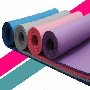 1830 * 610 * 4mm NBR Yoga Minderi ile pozisyonu Hattı Karşıtı Skid Halı Paspas İçin Kıdemli Tipi Çevre Sport Spor Cimnastik # 09 Zt8y #