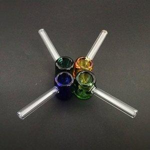 классические стеклянная карманная труба молотка формы курительной трубка 3,26 дюйма мини Galss труба прямая труба на складе оптовой Jxza #