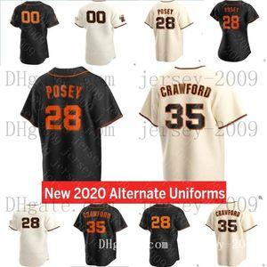 San Francisco 2020 Giants Buster Posey Basey Jersey Brandon Crawford Kevin Pillar Yastrzemski Longoria Belt Jersey Men Donne Gioventù 033