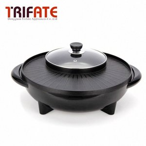Fonksiyonlu 1600W / 1700W Elektrikli Tava Izgara Mangal Izgara Raclette Elektrikli Hotpot ile Pan ZAVT #
