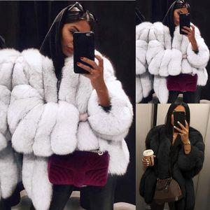Coat Female 2020 Women Plus Size Short Faux Fur Coat Warm Furry Jacket Long Sleeve Plus Size S-5XL Outerwear fourrure femme