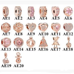 Amala Sterling Silver 925 Daisy Clover Flower Hearts Crown Charm Bead with Cz Fits European Pandora Jewelry Bracelets Necklaces & Pendants