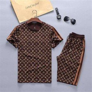 Gucci suit xshfbcl Hommes Survêtement Mode avec de courtes lettres Femmes d'été Vêtements de sport à manches courtes Pull Jogger Pantalons Costumes O-Neck Sportsuit