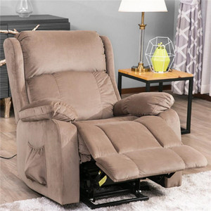 AMÉRICAINES Adultes confortables relaxable Oris fourrure. Power Lift Chaise Tissu d'ameublement Recliner Salon Chaise Canapé avec PP038658EAA à distance