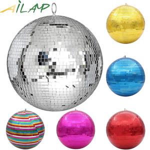 Big Party 30 centímetros espelho da bola do disco Light Stage Rotating Bola de vidro Detalhes no Ktv Bar Dj Lighting Reflexão Mirror Ball colorido