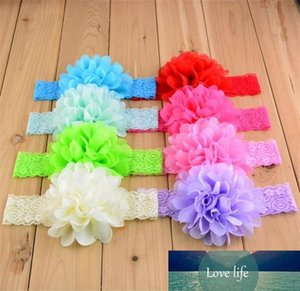 Baby lace Flower Hair band 16 color silk Hair rope band knitted elastic headband Head Bands baby Hair band TO517