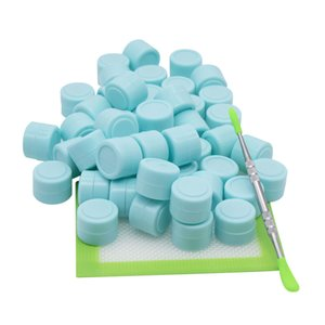 2ml Silicone Containers Wax dabber tool big silicone pad mat Dab jars Container dab tool kits for wax bongs dab rigs smoking pipe