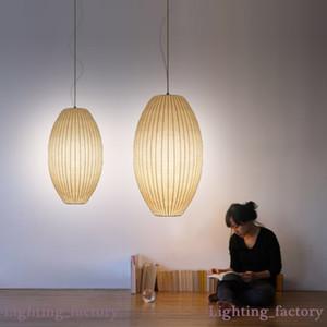 George Nelson Bubble soucoupe lampe LED E27 soie blanche Pendant Light H60cm H65cm Lampe soie blanche Lampe suspendue soie blanche d'éclairage suspendu