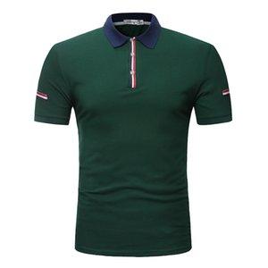 ZYFG gratuito Tops Nueva marca color de la camisa informal de verano masculina mosaico delgada Algodón 2020 camisa de manga corta de gran tamaño 3XL