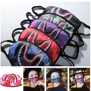 Washable Cheap Bathing Ape Shark Face Protective Mouth-muffle Mouth Covers Reusable Cycling Ma KD23