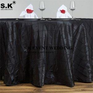 Ronde nervuré Table Cloth Banquet de mariage événement Accueil Nappe Party Decoration