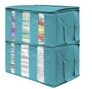 Нетканые складная коробка хранения Портативный одежды Организатор Tidy мешок Чемодан Home Box хранения большой емкости Дом Accessoriese AHA742