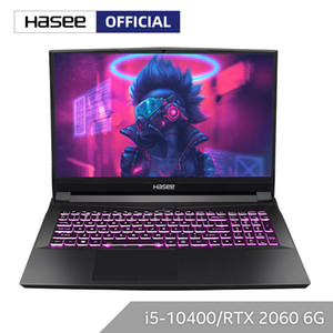 Hasee TX8-CU5DK Laptop for Gaming(Intel Core -10400+RTX2060 16GB RAM 256SSD+1T HDD 16.1''144hz 72%NTSC IPS ) Notebook computer