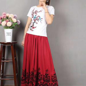 gonna estiva di 8r3Qz Le donne con la bellezza manica Ethnic Design Group e Jiangnan ricamato pannello esterno delle donne allentate stile etnico di grandi dimensioni