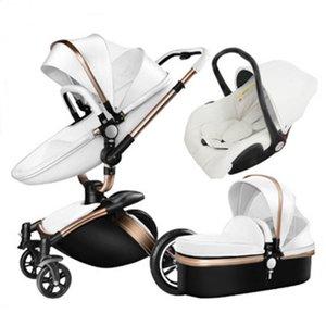 Детская коляска с автокреслом, 3 в 1 коляске для новорожденных, складной детской коляской, туристической системой Детская тележка