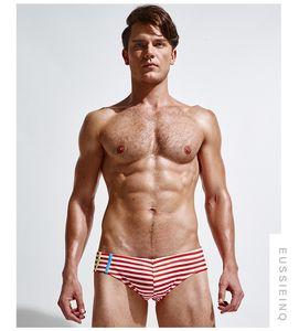 Новая марка мужчина Купальники мужских дизайнеров Slim Fit плавки творческого Swim Brief Майо De Bain пляж износ Бесплатной доставка