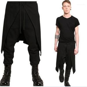 Pantalon gothique Style Punk 2020 Plus Size Pantalons simple Harem hommes Drapé Sarouel entrejambe bas Hip Hop pantalons Baggy de danse