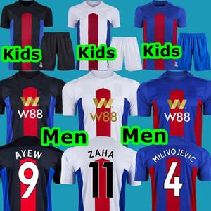 MEN + الاطفال 2020 2021 كريستال بالاس لكرة القدم جيرسي Milivojevic 4 فان Aanholt 3 زها 11 أيو 9 منزل AWAY القمصان الثالث لكرة القدم الزي الرسمي