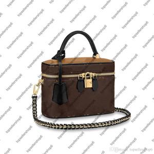 M42265 M45165 AGRADABLE BB VANIDAD PM bolso de las mujeres del monedero de cuero de vaca de lona de cuero bolsa de hombro crossbody neceser TLQ