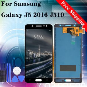 """5.2"""" Orijinal LCD Ekran% 100 test edilmiştir Çalışma Dokunmatik Ekran Montaj için Samsung Galaxy J5 2016 J510 da LCD ekran onarım araçları"""