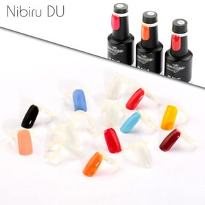 50 Pcs Nail Polish UV Gel Color Pops Display Natural Art Ring Style Nail Tips Chart Full