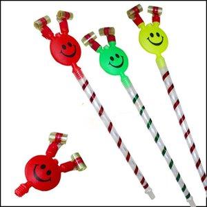 cgjxs 37 centimetri lungo sorridente colorato Fischietti scherza il Birthday Party Blowing drago Blowout di compleanno del bambino rifornimenti regali dei giocattoli