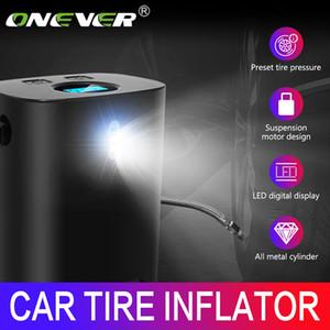 Onever voiture pompe à air portable voiture Gonfleur poignée 150PSI 12V compresseur d'air avec LED d'affichage numérique à chaud intelligente