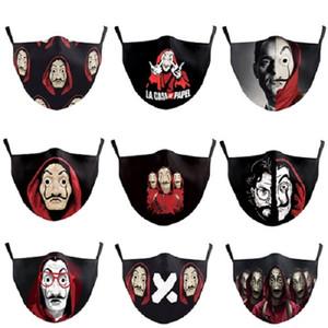 Gesichtsmaske Film-Banknote Haus schwarz Digitaldruck Charakter staub- waschbar verstellbare Ohrhaken unisex Maske