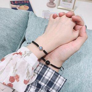 chance braceelt pierres semi-précieuses naturelles femmes hommes couples bracelet de perles de 10 mm bracelets de tissage bricolage bijoux cadeau amitié Y200918
