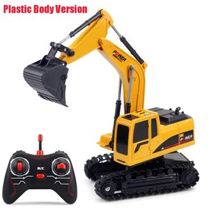 6CH Truck Metal Excavator Alloy RC 1:24 270 Degree Rotation Car Bucket Remote Control Kids Toys Vehicle Model Charging Rapga