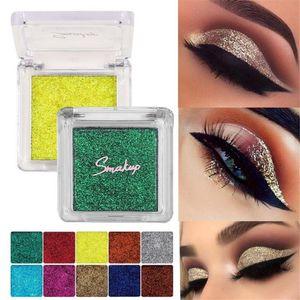 10 Colors Glitter Eyeshadow Gel Metallic Powder Pigment Perfume Shining Cosmetics Eye Makeup Beauty Glazed Creamy Palette Tools
