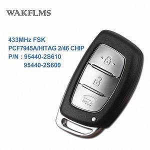 3 кнопок BTN 433MHz PCF7945A Hitag 2 46 CHIP Удаленный ключ Smart Car Для IX35 95440-2S610 95440-2S600 qk5f #