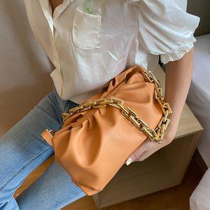2020 Tendência pequeno PU de couro mulheres cadeia luxuosos de sacos bolsa Bandoleira Designer cadeia saco de ombro de Mulheres