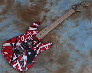 Eddie Van Halen Frankenstrat Electric Guitar Heavy Relic Aged Red Striped Frankie Guitar Frankenstein