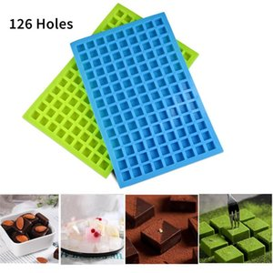 126 Lattice Square Ice Molds Tools Jelly Baking Silicone Party Mold Decorating Chocolate Cake Cube Tray Candy Kitchen