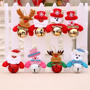 Ornamento de Santa / Snowman / rena / Bear Pendant com sinos Decor Xmas Tree Doll Decoration JK2008XB