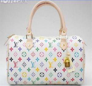 لويسمصمم السيدات حقائب اليد زهرة حقيبة أزياء الراقية المرأة أكياس جودة أسلوب باريس الشهيرة الصورة أكياس تسوق مع محفظة الهواء مجاني